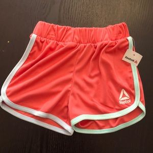 NWT - Reebok Shorts in Coral and Green 4T